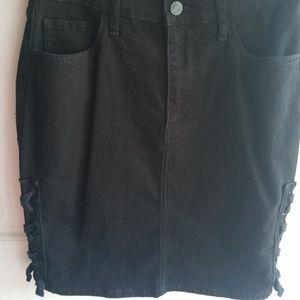 Gap Black Denim Stretch Skirt